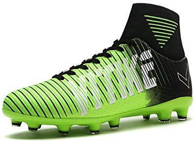kids green football cleats