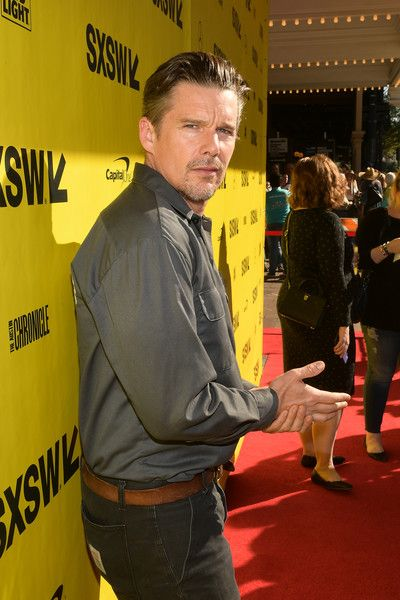 "Ethan Hawke attends the ""Blaze"" Prmeiere 2018 SXSW Conference and Festivals at Paramount Theatre on March 16, 2018 in Austin, Texas."