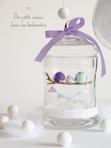 DIY cadeau de naissance : des petits oiseaux dans une bonbonnière - Black Confetti