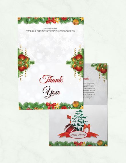 Christmas Brochure Thank You Card Template Free Pdf Word Psd Apple Pages Publisher Christmas Brochure Christmas Templates Free Thank You Card Template