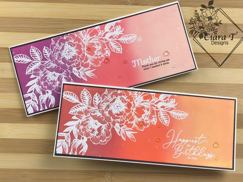 Join me as I create an Distress Oxide Ink Blended mother's day card! I have a step by step video to help you make your own as well! Flower Stamp, Flower Cards, Card Kit, Card Tags, Penny Black, Distress Oxide Ink, Birthday Cards, Birthday Images, Birthday Quotes