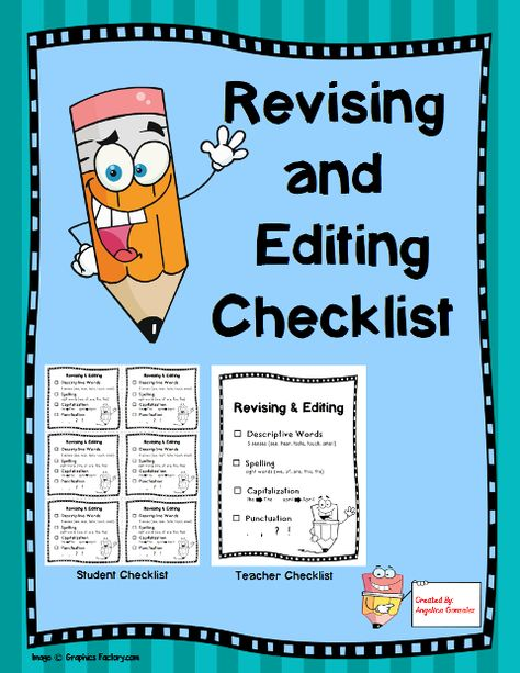 Revise & Edit Checklist: 100th Day of School, St. Patrick's Day, Earth Day