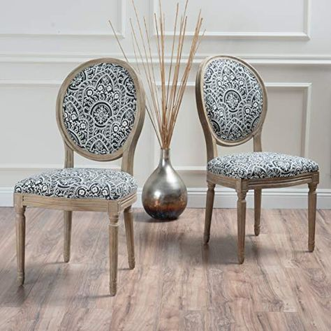 Christopher Knight Home 300257 Phinnaeus Fabric Dining Chair Set