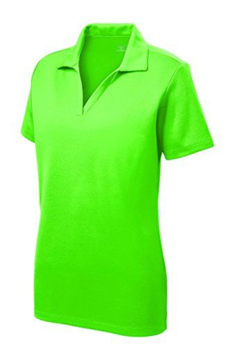 Womens Dri-Equip Short Sleeve Racer Mesh Polo Shirts in Size XS-4XL