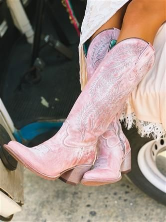 Corral Rose Embroidery Tall Top Boot is genuine leather and may stretch up to an inch and a half.You are in the right place about women boots casual Here we offer you the most beautiful pictures about the women boots summer you are looking for Pink Cowgirl Boots, Cowboy Boots Women, Western Boots, Cowgirl Boot Outfits, Cowgirl Baby, Vintage Cowgirl, Western Wall, Western Style, Over Boots