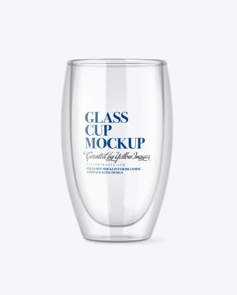 Clear Glass Cup Mockup In Cup Bowl Mockups On Yellow Images Object Mockups In 2021 Glass Cup Glass Clear Glass