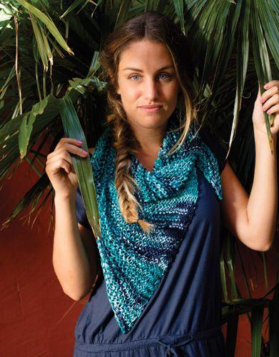 Book Beginners 3 Spring / Summer | 50: Woman Shawl | Green-Blue