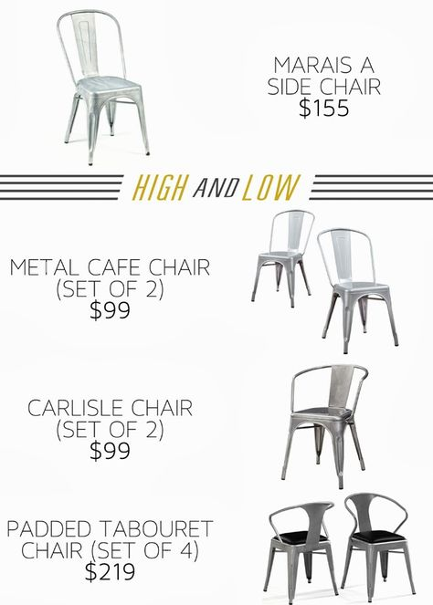 High and Low- AFFORDABLE Industrial chairs. Metal dining chairs. http://www.uk-rattanfurniture.com/product/charles-bentley-garden-patio-outdoor-brown-rattan-hanging-swing-chair-with-cream-cushion/