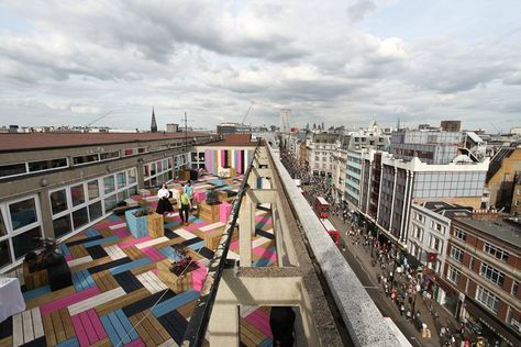 London College Of Fashion Rooftop Studio Weave Londra Ambiente