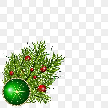 Christmas Leaves Corner Design With Ball Christmas Holiday Leaf Png And Vector With Transparent Background For Free Download Christmas Leaves Christmas Vectors Christmas