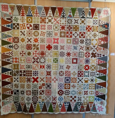 Dear Jane quilt spotted at Quilt en Beaujolais-  April 2014, photo by Scrap, Quilt and Stitch
