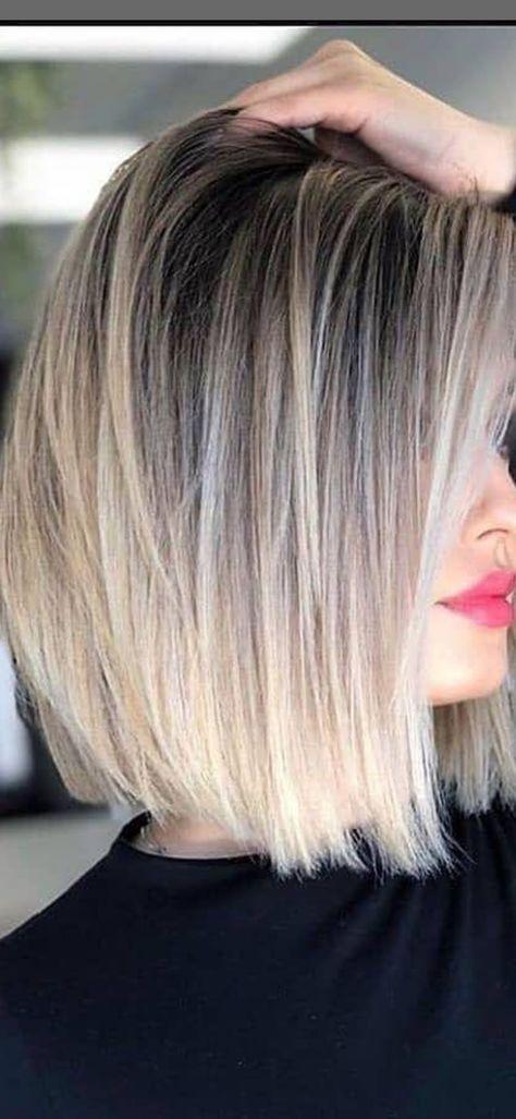 Bob Hairstyles Pretty Hairstyles Bob Hairstyles Haircuts Hair Color Balayage Blonde Balayage Sh En 2021 Coiffure Cheveux Mi Long Styles Cheveux Longs Coupe De Cheveux