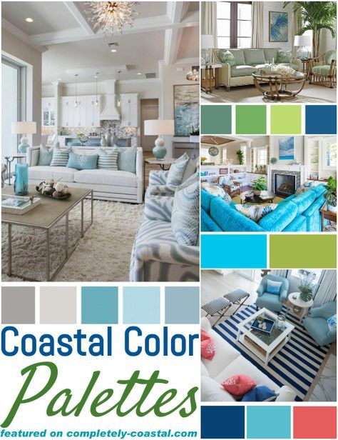 Classic Coastal Beach Color Palettes Living Room Decor Ideas