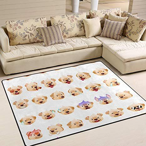 Kitchen Living Room Combo New Amazon Alaza Soft Indoor Modern Dog Emojiarea Rug For Ide Sofa Ruang Tamu Ruang Makan Modern Ide Ruang Tamu Modern Pictures for living room amazon