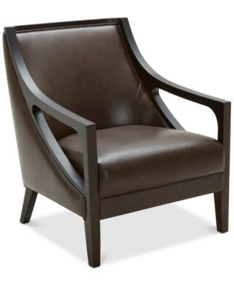 Tianah Leather Accent Chair Created For Macy S Macys Com