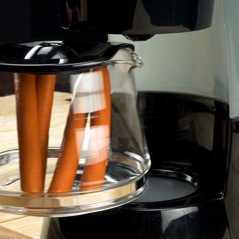 Von Hot Dog bis Schokoladenfondue: 4 Rezepte aus der Kaffeemaschine #küchentipps #tricks #hotdog #rezept
