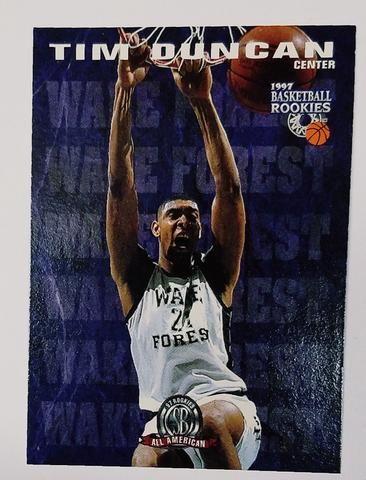 Tim Duncan Rookie Card 1997 Score Board Basketball Rookies 62 Wake