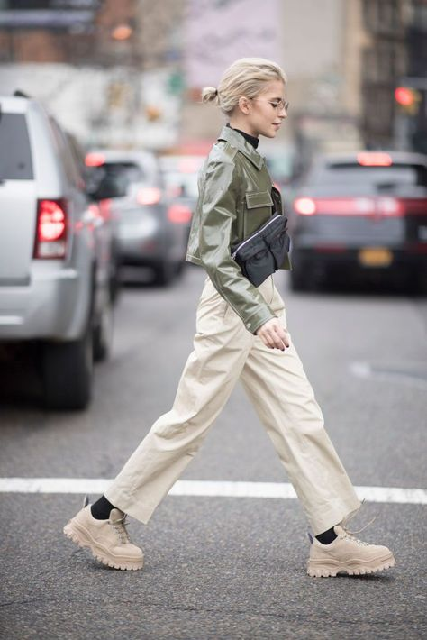 The best street style from New York Fashion Week Feb NEW YORK, NY - FEBRUARY Caro Daur seen in the streets of Manhattan during the New York Fashion Week February 2018 on February 2018 in New York City. (Photo by Timur Emek/Getty Images)