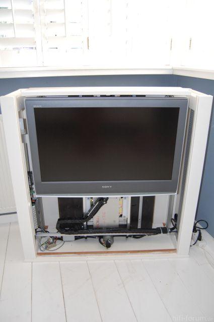 Tv Uit Kast.Vesper Tv Lift Meubel 55 Inch Verbouwing Woonkamer Pinterest
