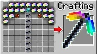 Crafting The World S Strongest Minecraft Pickaxe Minecraft Minecraft Crafts Minecraft Sword