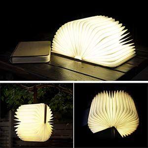 8.66*6.69*1.57Inch LED Livre Lampe GEEDIAR Lampe LED Pliante en Forme de Livre avec 2500mAh Batterie Lithium Lampe de chevet Veilleuse Lumieres Decoratives Lampes dambiance Dimension 22*17*4CM