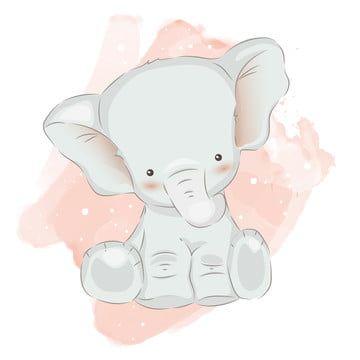 Abstract Adorable Animal Animals Art Baby Card Backdrop Background Birthday Bunny Card Cartoon Celebrati Elephant Illustration Cute Baby Elephant Baby Elephant