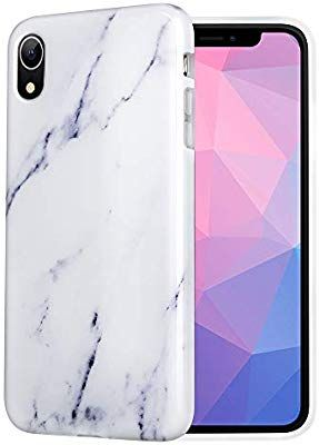 reputable site 84b44 376d3 Amazon.com: Caka iPhone XR Case, iPhone XR Marble Case Slim Anti ...
