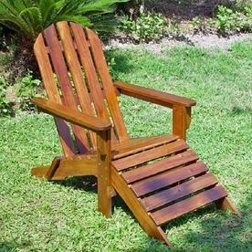 International Caravan Highland Acacia Adirondack Chair With Slat Vf 4105 St Outdoor Chairs Adirondack Chair Patio Chairs