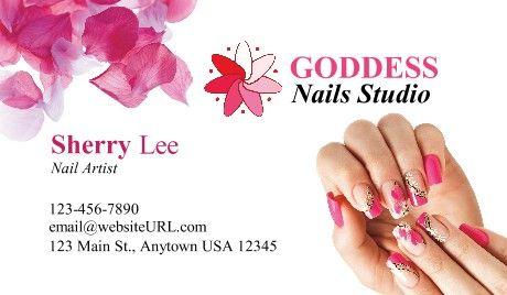 Nail Salon Business Cards Nails Nail Salon Business Cards Salon Business Cards Business Card Template Design