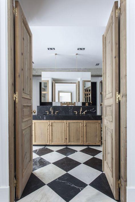 Bathroom Flooring Luisa Olazabal Suelo A Cuadros Banos De Lujo Diseno De Interiores De Bano