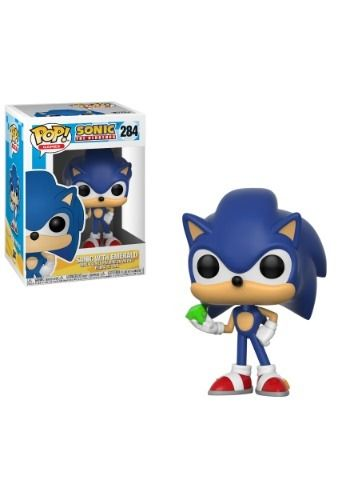 Funko Pop Games Sonic Sonic Vinyl Figure W Emerald Vinyl Figures Sonic Pop Vinyl Figures