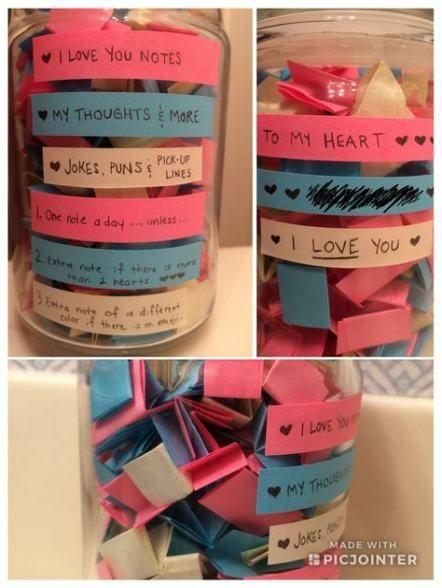 48 Ideas For Diy Gifts For Boyfriend Jar Love Notes Birthday Surprise For Girlfriend Girlfriend Gifts Boyfriend Gifts
