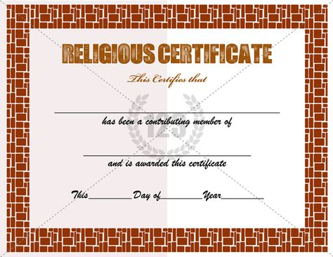Religious Certificate Templates for Your Church Activities - free perfect attendance certificate template