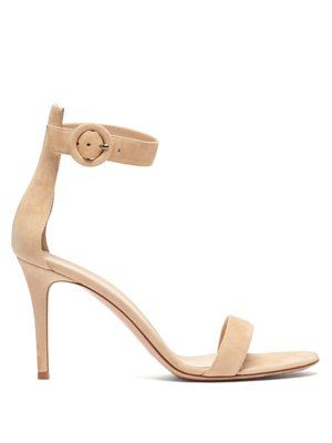 Black Portofino 105 Suede Sandals Gianvito Rossi Blue Shoes Women Womens Heels Led Shoes
