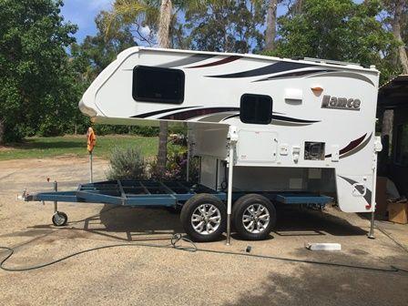 Slide On Camper On Purpose Built Trailer Camper Remodeled Campers