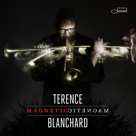 """""""Magnetic,"""" Terence Blanchard's stunning new album is set for release May 28 on Blue Note Records. The album features ten original songs written by Blanchard or a member of his quintet: saxophonist Brice Winston, pianist Fabian Almazan, bassist Joshua Crumbly, and drummer Kendrick Scott. """"Magnetic"""" also showcases special guest appearances from bass legend Ron Carter, as well as label-mates saxophonist Ravi Coltrane and guitarist Lionel Loueke."""
