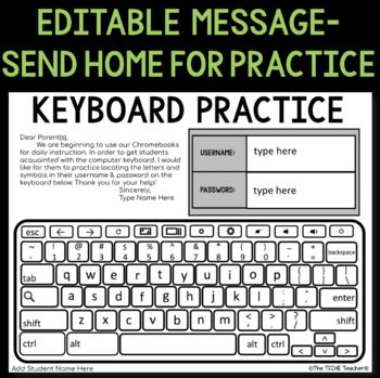 Chromebook Keyboard Printable Practice Sheets Keyboard