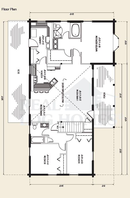 The Madison -Classic Log Home Plan by Gravitas | house floor plans ...