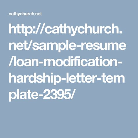 cathychurchnet sample-resume loan-modification-hardship - loan modification specialist sample resume