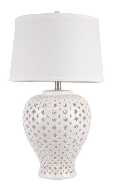 Lattice Tall Antique White Tapered Ceramic Table Lamp American Fitting Lighting 9313705290098 Ebay Table Lamp White Table Lamp Antique Table Lamps