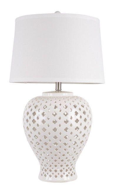 Lattice Tall Antique White Tapered Ceramic Table Lamp American Fitting Lighting 9313705290098 Ebay Antique Table Lamps Table Lamp Lamp