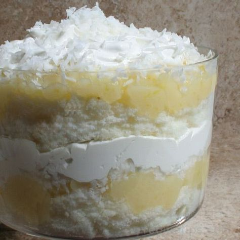 Lemon Trifle Recipe - This pretty lemon dessert recipe is a nice choice for your Mother's Day menu.
