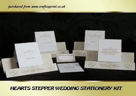 A kit containing a save the date wedding and evening invitation a kit containing a save the date wedding and evening invitation thank you card rsvp card and a place card the steppers have an ivory patterned stopboris Image collections