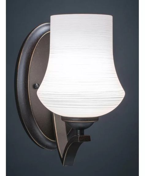 Couto 1 Light Dimmable Armed Sconce In 2021 Sconces Dimmable Light Bulbs Light