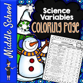 Independent Dependent Variables Winter Coloring Activity