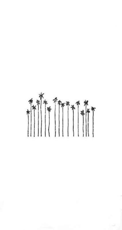 Trendy Wallpaper Backgrounds Simple Black White Ideas Tree Wallpaper Iphone Wallpaper Iphone Summer Palm Trees Wallpaper