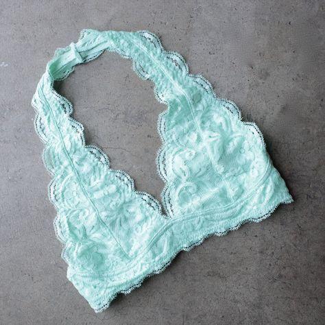 d5536b885b7 Magic hour halter lace bralette (more colors)