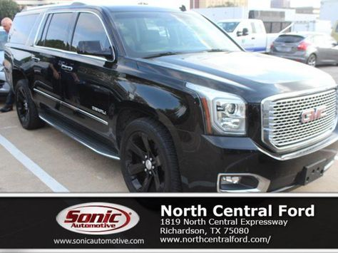 Used Black 2015 Gmc Yukon Xl Denali For Sale In Richardson Texas
