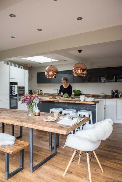 Contemporary Kitchen Diner In 2020 Open Plan Kitchen Dining Living Open Plan Kitchen Living Room Kitchen Diner Lounge
