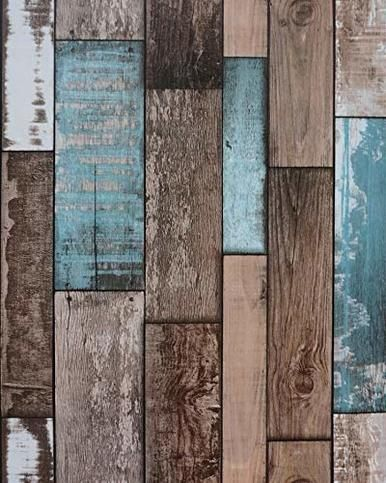 Vintage Wood Plank Wallpaper 16 4 X17 8 Self Adhesive Old Rustic Distressed Wood Grain Texture V Wood Wallpaper Wood Plank Wallpaper Distressed Wood Wallpaper
